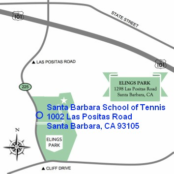 Directions to Santa Barbara School of Tennis, Santa Barbara, CA