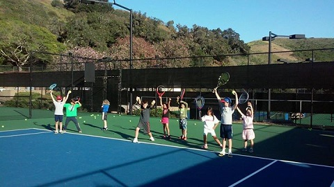 Santa Barbara School of Tennis is the training place for a number of rising stars
