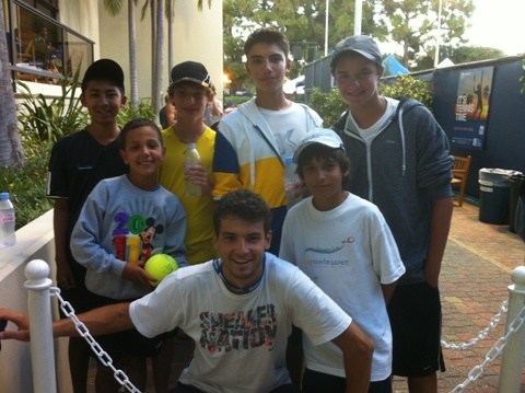 Santa Barbara School of Tennis Tournament Travel Team with Grigor Dimitrov (BUL) at LA Open